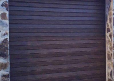 Puerta de Garaje Persiana de Madera